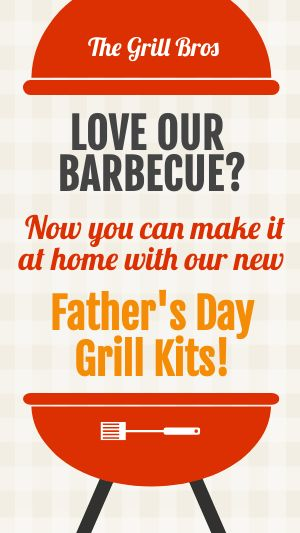 BBQ Fathers Day Facebook Story