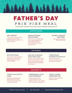 Fathers Day Set Menu