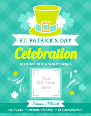 St Patricks Celebration Sign