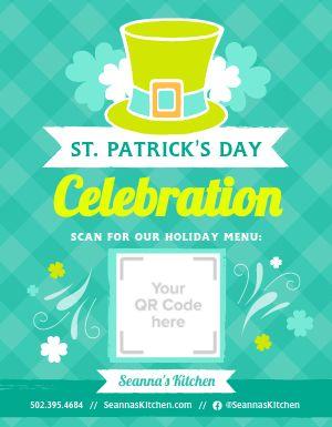 St Patricks Celebration Sign