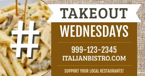 Takeout Wednesday Facebook Post