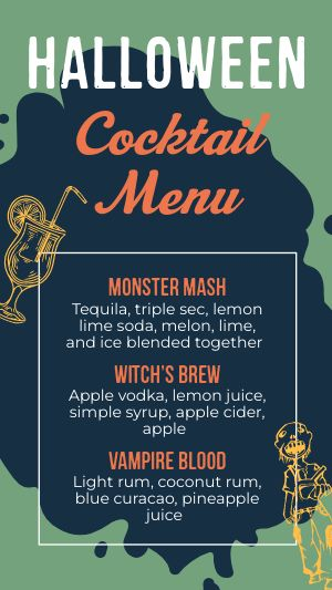 Halloween Cocktail FB Story