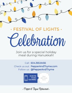 Hanukkah Festival of Lights Sign