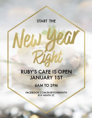 Restaurant New Year Flyer