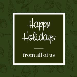 Happy Holidays Instagram Post
