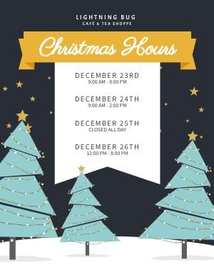 Christmas Hours Schedule Flyer