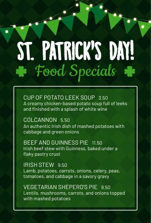 St Patricks Day Table Tent