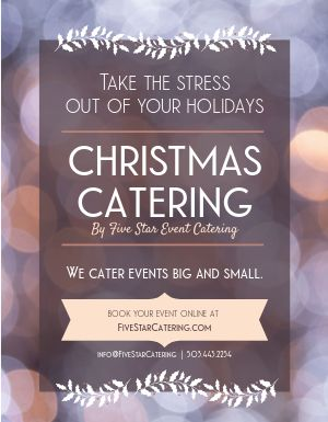 Christmas Winter Catering Flyer