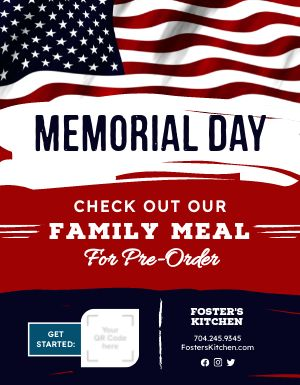 Memorial Day Specials Sign
