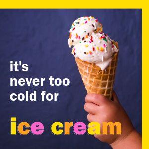 Ice Cream Promo Instagram Post