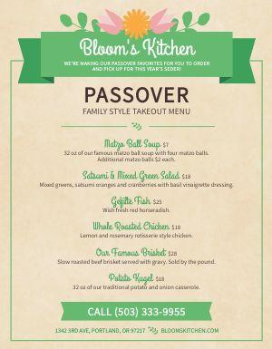 Festive Passover Menu