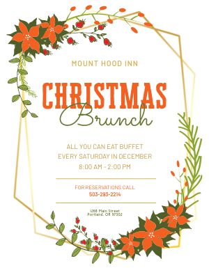 Christmas Brunch Wreath Flyer