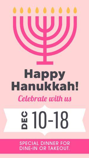 Hanukkah Specials Instagram Story