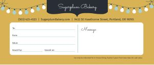 Bakery Holiday Gift Certificate
