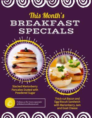 Breakfast Specials Flyer