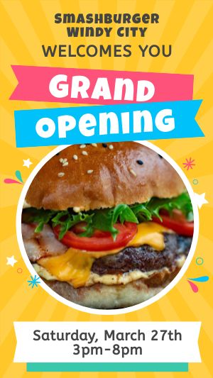 Grand Opening Facebook Story