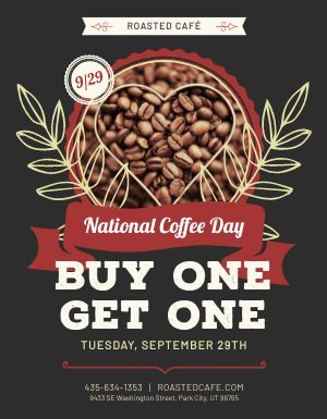 National Coffee Day Flyer