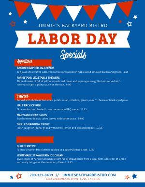 Labor Day Holiday Menu