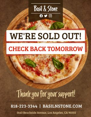 Pizza Sold Out Flyer