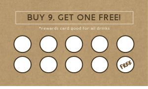 Coffee Drinks Loyalty Card