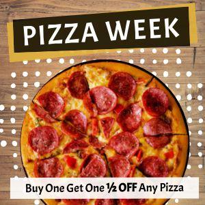 Pizza Week Instagram Post