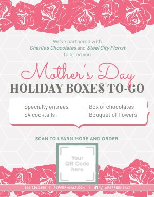 Mothers Day Takeout Flyer