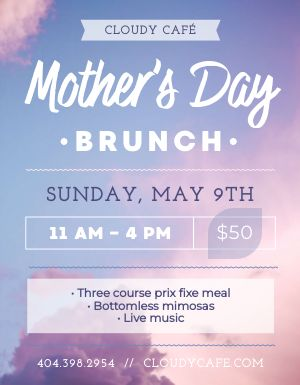 Mothers Day Brunch Announcement