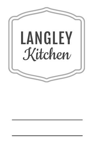 Restaurant Logo Label