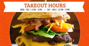 Takeout Schedule Facebook Post