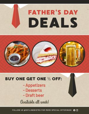 Fathers Day Deals Sign