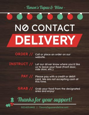 Holiday Delivery Sign