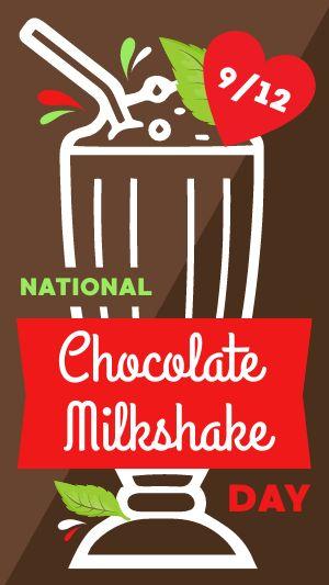 Chocolate Milkshake Facebook Story