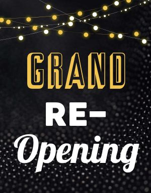 Grand Reopening Signage