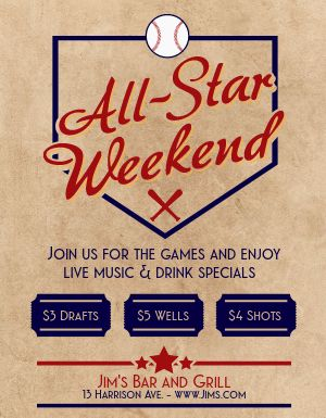 Sports Bar Games Flyer