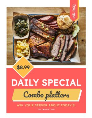 Barbecue Specials Flyer
