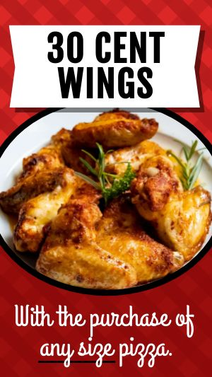 Wings Specials Instagram Story