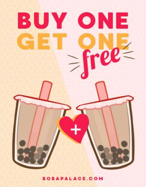 BOGO Bubble Tea Flyer
