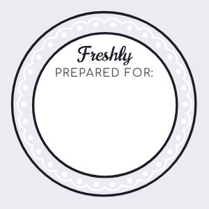 Prepared Fresh Label