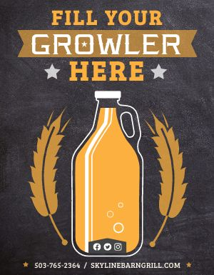 Growler Beer Flyer
