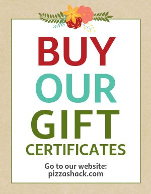 Buy Our Gift Certificates Flyer