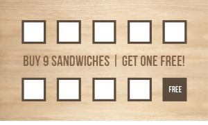 Lunch Sandwich Loyalty Card