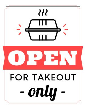 Takeout Open Poster