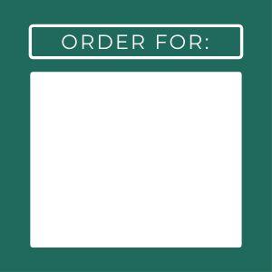 Order Name Label