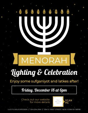 Hanukkah Holiday Flyer