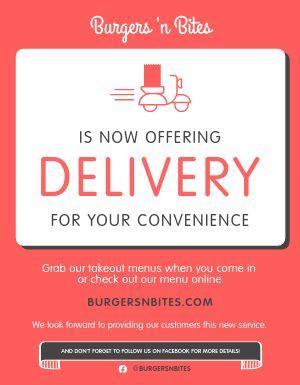 We Now Deliver Flyer