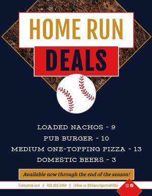 Baseball Specials Flyer