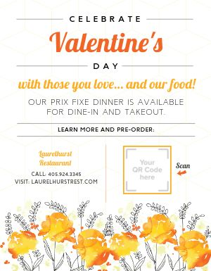 Celebrate Valentines Day Flyer