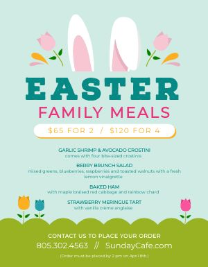 Easter Menu Sample