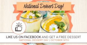 Dessert Day Facebook Post