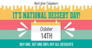 Dessert Day Promo Facebook Post